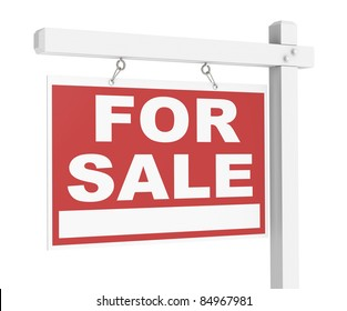 A, For Sale, Real Estate Sign of Wood.