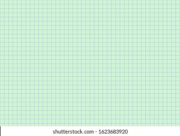 A3 size graph paper, green sub-lines Blue main line