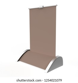 A4 A3 PVC PP paper Table Top Set Stand Mini Roll Up Banner,Pull Up Banner Standee Banner Stand,Table Banner Stand,Banner Stands Product. 3d render illustration