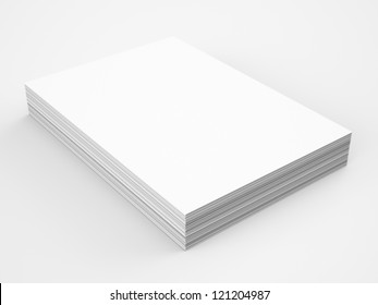 A4 Blank paper stack, mockup