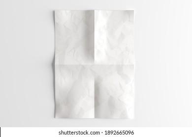 A4 paper sheet mock up - 3d rendering