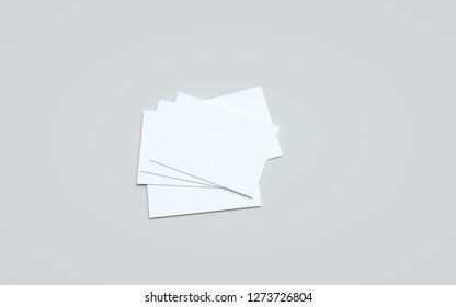 A6 Flyer / Postcard / Invitation Mock-Up - Multiple Flyers. 3D Illustration