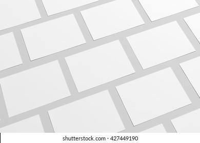 A6 Flyer / Postcard / Invitation Mock-Up. 3D Rendering.