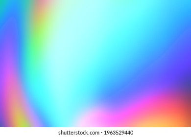 Aabstract color spectrum background and texture. Blurred colorful light effect on glass with rainbow gradient.