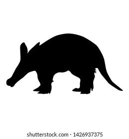 Aardvark Silhoutte Design Illustration Vector
