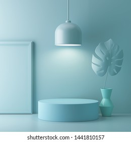 aAstract geometric shape pastel color scene minimal, design for cosmetic or product display podium 3d render.