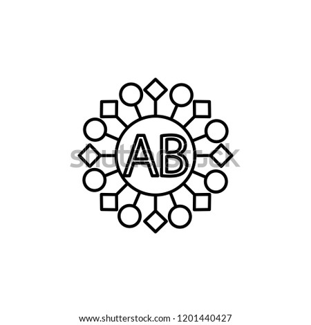 AB Blood Icon Element Of Donation For Mobile Concept And Web Apps Illustration