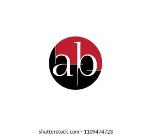 AB letter logo/BA initials logo