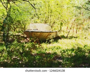 Abandoned Boat Cahaba Water Color