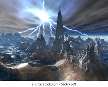 Abandoned Fortress on Alien World