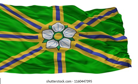 Abbotsford City Flag, Country Canada, Isolated On White Background