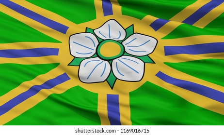 Abbotsford City Flag, Country Canada, Closeup View, 3D Rendering