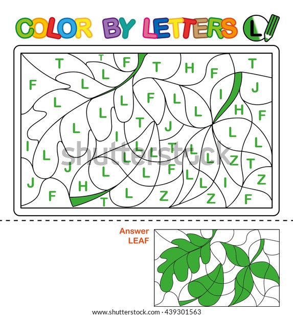 Abc Coloring Book Kids Color By Stockillustration 439301563