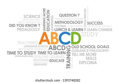 abcd in important words in the business world cloud words