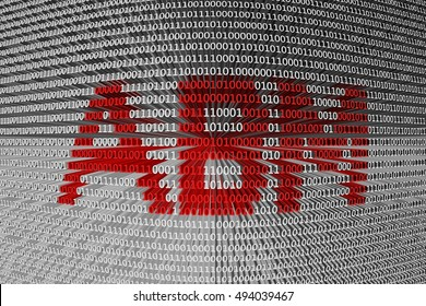 ABM in the form of binary code, 3D illustration