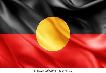 Aboriginal Australia  flag of silk