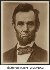 Abraham Lincoln (1809-1865) in the classic portrait by Alexander Gardner of November 15, 1863.