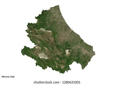 Abruzzo, Italy Map (3D illustration)