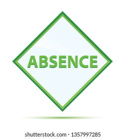 Absence Isolated on modern abstract green diamond button