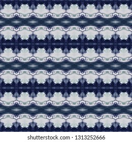 absract blue and white seamless symmetrical graphic pattern