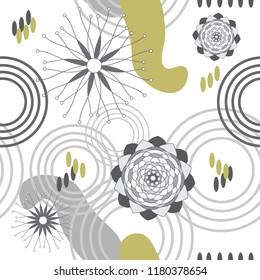 Absract Garden-Geometric Modern Flowers