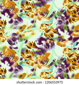 abstact floral flowers pattern