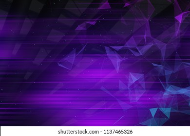abstarct purple geometric background with triangles and blured lines. 3d rendering