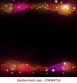 abstrac disco music equalizer background for active dance events