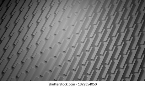 abstract 3d background geometric black and white 3d illustration