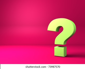 abstract 3d background with question mark