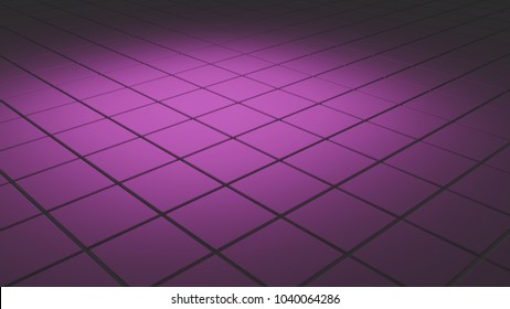 Abstract 3d background with tiles in soft purple light