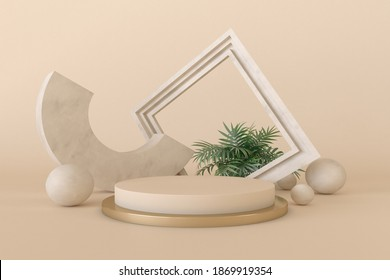 abstract 3d depth and realism background,pastel color showcase for product . 3d rendering