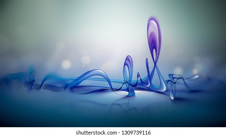 abstract 3D figure on a light background