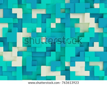 Abstract 3d geometric constructor