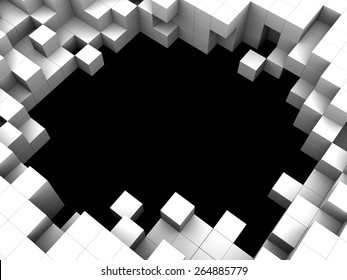 abstract 3d illustration of cubes background or frame