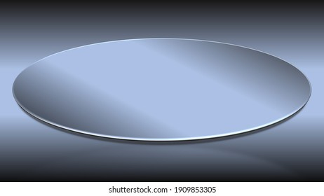 An abstract 3d metallic oval shape background image.