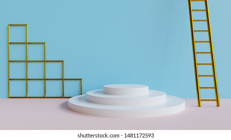 Abstract 3d minimal background  - Abstract 3d render of a minimal set design