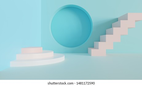 Abstract 3d minimal background  - Abstract 3d rendered background with pastel colors