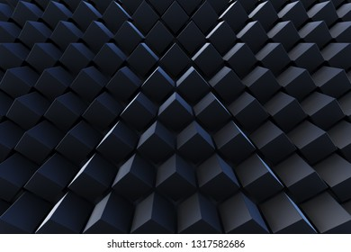 Abstract 3D minimalistic geometrical background of cubes