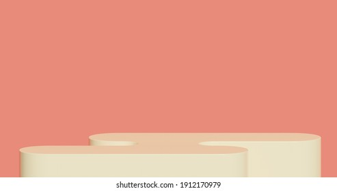 Abstract 3d render, Mock up podium for product presentation, abstract minimal concept, Showcase, geometric background, Product Presentation