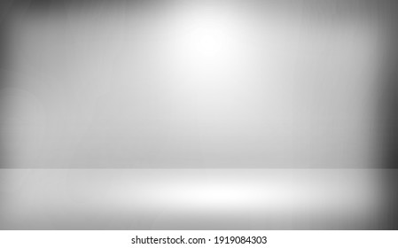 Abstract 3D Rendered Illustration Room Background. Grey backdrop wallpaper empty room