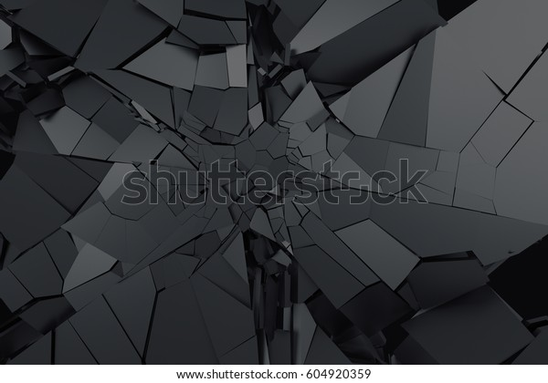 Abstract 3d Rendering Cracked Surface Background Stock