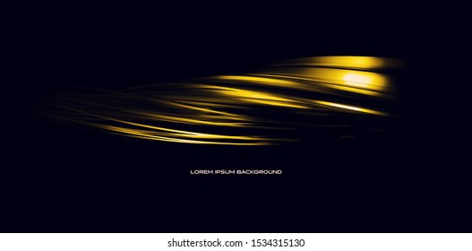 Abstract 3d rendering of twisted lines. Modern technology background design, illustration under a concept of a futuristic technology.