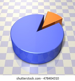Abstract 3DCG illustration that represents the pie chart. 3D rendering