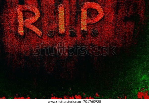 Abstract Abbreviation Rip Rest Peace On Stock Illustration