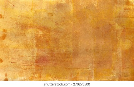 Abstract acrylic golden background texture