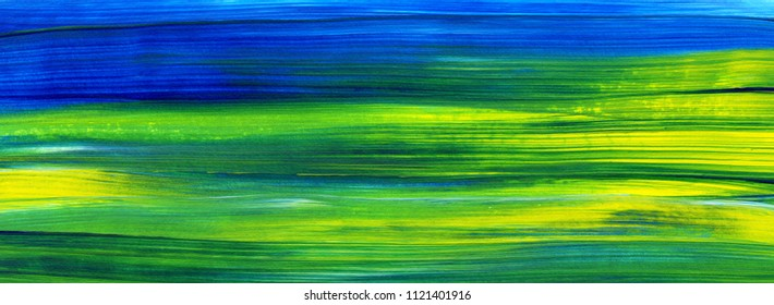 Abstract acrylic painting for use as background, texture, design element. Modern art with brush stroke texture