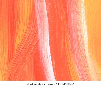 Abstract acrylic painting for use as background, texture, design element. Modern mixed colour art with brush stroke texture