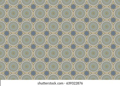 Abstract arabesque background for greeting card, presentation or wedding invitations. Traditional raster gothic damask background. Beige and yellow seamless background flower ornament pattern.
