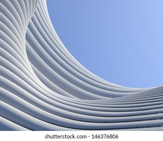 Abstract architectural background. Geometric shapes creative wallpaper
